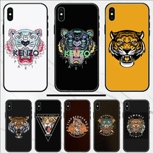 Voor Iphone Xs Case Luxe Tiger Head Cover Custom Photo Soft Telefoon Case Voor Iphone X Xs Xr Xs Max 5 5S Se(China)