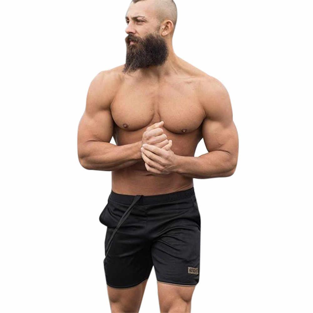 KANCOOLD 2019 yaz koşu şort erkekler spor koşu fitness şortu hızlı kuru erkek spor erkek şort spor spor salonları kısa pantolon erkekler