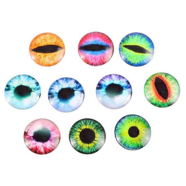 10 stücke Bunte 10/16/20MM Kunststoff/Glas Puppen Augen DIY Handwerk Augen Für Kinder Spielzeug dinosaurier Tier Augen Zubehör