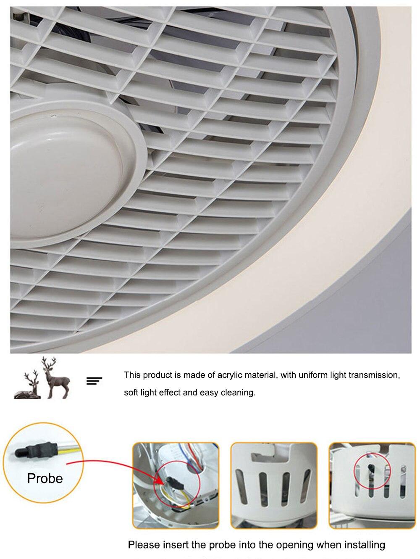 Sala de estar ventilador teto com luz