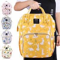 Vivisect sacos de fraldas dos desenhos animados coelho amarelo múmia sacos moda raposa mochila para viagem whit bebê grande fralda organizador saco do bebê