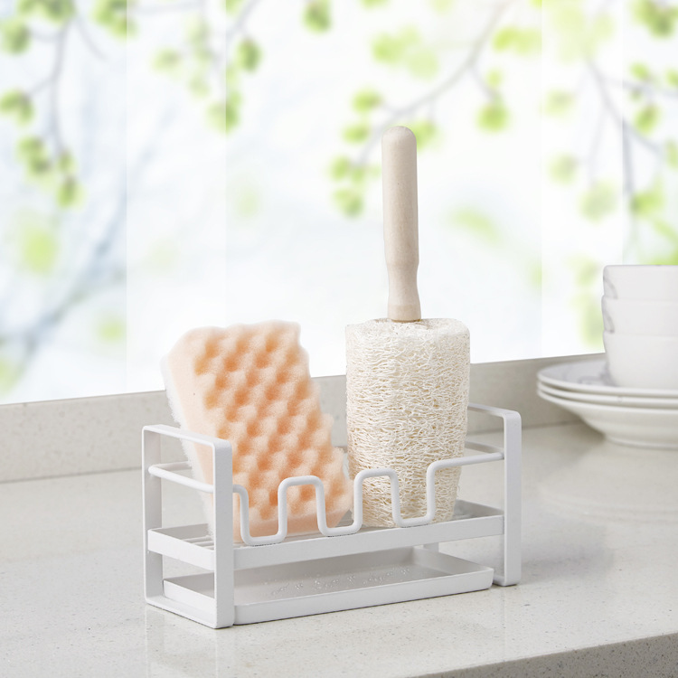 Kitchen Drain Storage Rack Sink Storage Supplies Draining Shelf Household Sponge Rag Storage Rack