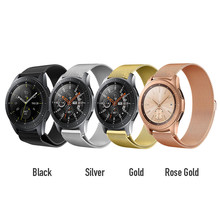 Samsung Gear S3 Frontier/Classic 22mm/S2 20mm Band Strap Galaxy Watch 46mm 42mm Stainless Steel Loop Milanese Belt Accessories laforuta milanese loop strap for gear s3 frontier classic watch band 22mm 20mm 18mm stainless steel mesh samsung galaxy 46mm