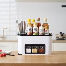 Casa Utile Cucina Box Condimento Set Multi funzione di Combinazione Della Lama di Cucina Forniture Titolare Rack di Stoccaggio Barattolo di Spezie Organizzatore