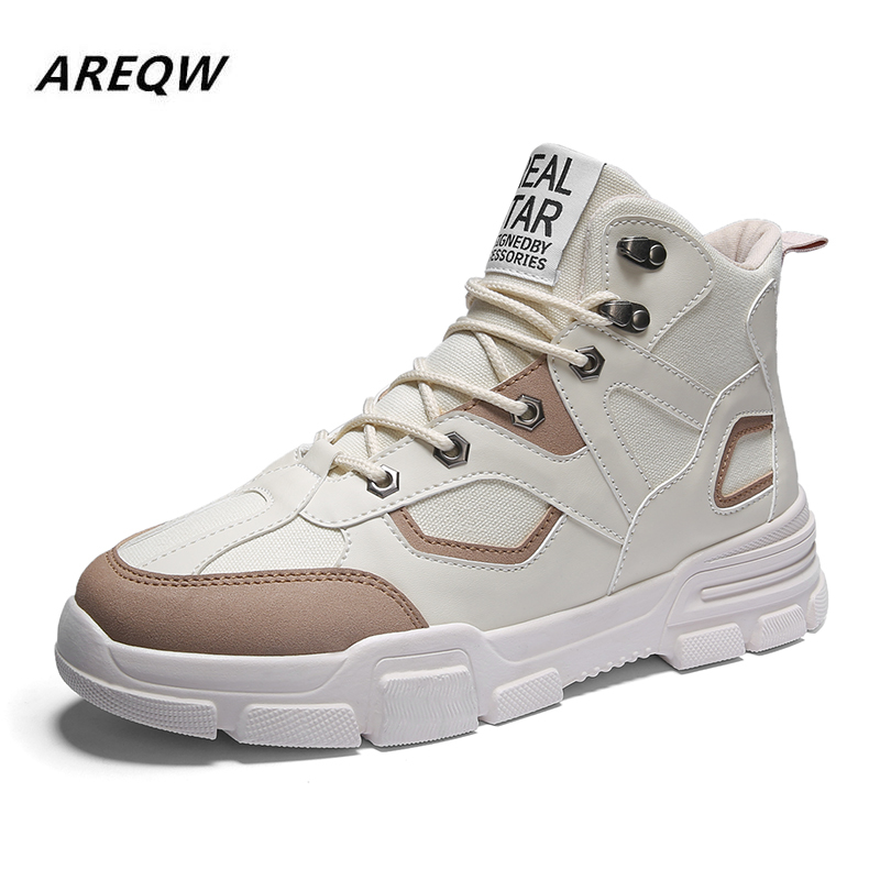 2019 Men Fashion Casual Shoes Spring Autumn Slip On High Top Sneakers Male Youth Trending Leisure Shoes