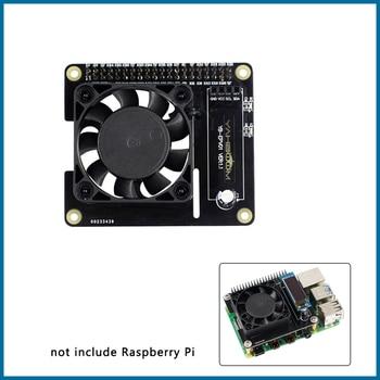S ROBOT Raspberry Pi 4 Intelligent Control Fan Speed Raspberry Pi 4 Temperature Control LCD Ice Fan Expansion Board RPI166 element14 pi face digital i o expansion board for raspberry pi green