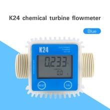 Flow-Meter K24 Ultrasonic-Flow Water-Flow Turbine Digital Min for Chemicals 10-120L