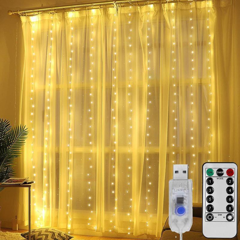 3m led cortina guirlanda led usb luzes da corda festão de fadas controle remoto decorações de natal para casa guirlanda na janela