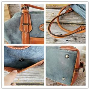 Image 4 - IMYOK Womens Vintage Leather Boston Bag Luxury Brand Designer Handbags Ladies Hand Shoulder Bags for Women 2020 Hot Sale Bolsos