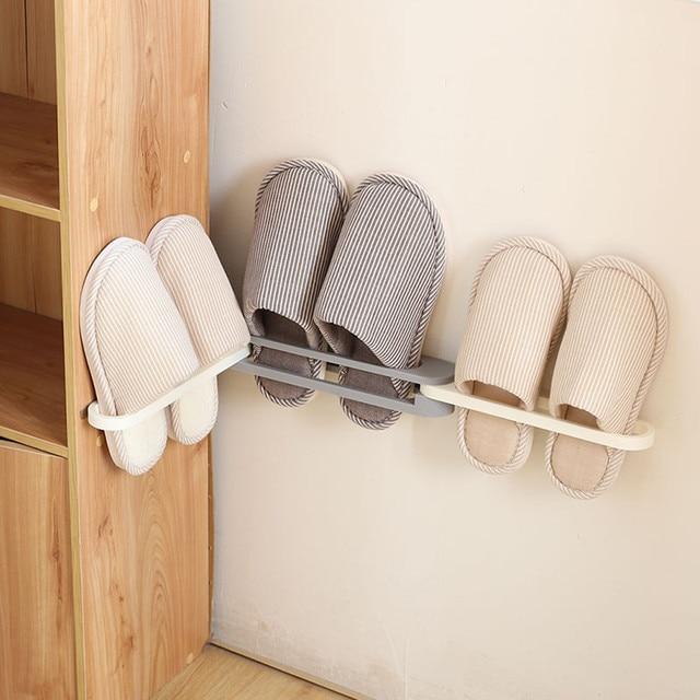 3 in 1 Shoes Rack Storage Organizer Wall Mount Hanging Shelf Slipper Holder 2