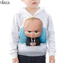 Sudadera con capucha dibujo del jefe bebé impresión 3D película niños niña sudadera moda camiseta travieso niños pantalones cortos traje