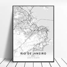Quadro do cartaz da arte da lona do mapa da arte de são paulo