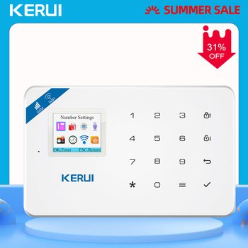 KERUI W18 WIFI GSM Arm Alarm System TFT Color Screen Home Safety Call Push APP Remote Control Wireless Anti-pet PIR Sensor Alarm