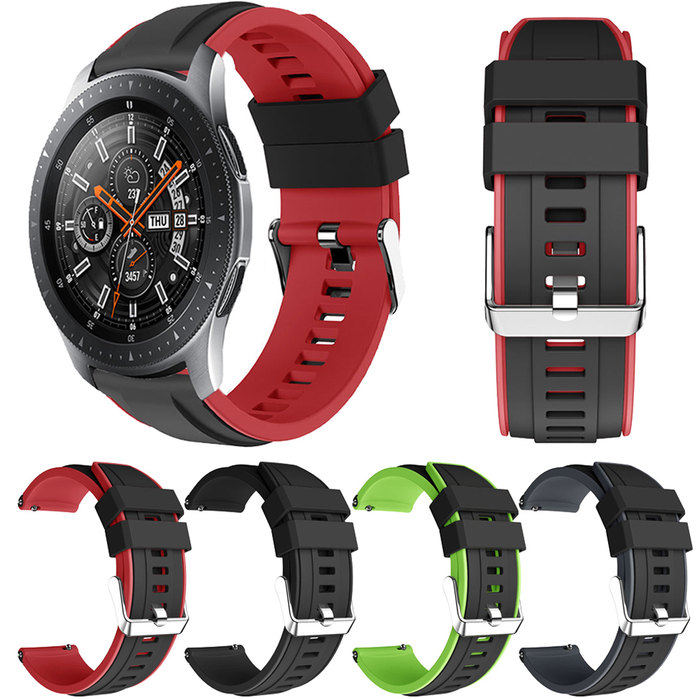 22MM Silicone Watch Strap For Samsung Galaxy Watch 46MM Active2 44MM Smart Bracelet Replaceable For Gear S3 Classic/Frontier S2