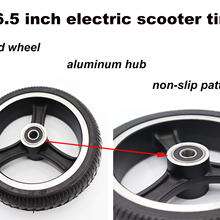 6.5 inch wheels part electric bike motorcycle scooter solid tire with rubber wheel and aluminum hub non pneumatic