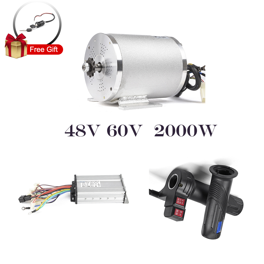 48V <font><b>60V</b></font> <font><b>2000W</b></font> Electric <font><b>Motor</b></font> For Bicycle Conversion Kit Electric Scooter Brushless <font><b>Motor</b></font> Controller With Reverse Twist Throttle image