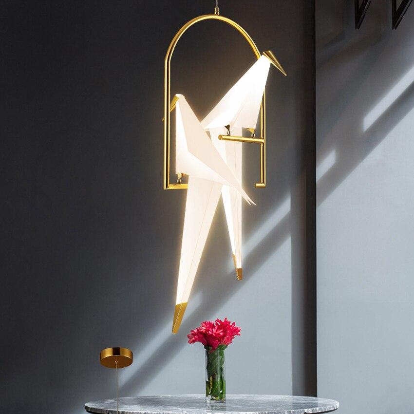 LED moderne mille papier grue suspension lumières éclairage nordique pastorale intérieur déco Loft suspension lampe salon luminaires - 4