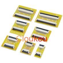 Ffc fpc 0.5 1.0mm cabo plano flexível alongar placa de adaptador de extensão 4p6p8p10p12p14p16p22p26p28p30p32p34p36p40p50p54p60p
