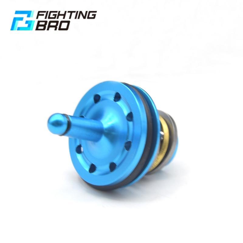 Купить с кэшбэком FightingBro Super Silent Cylinder Head Piston Head CNC Alumium Alloy For Airsoft V2 Gearbox Paintball M4 AEG Air Gun Gel Blaster