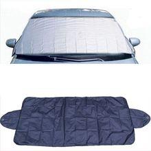 Защита от солнца на лобовое стекло автомобиля с присоской, защита от снега, льда, пыли, мороза Q1QE