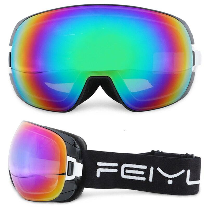 Grand masque adultes lunettes de Ski hommes femmes Double lentille Ski Snowboard lunettes lunettes lunettes de neige UV400 Anti-buée