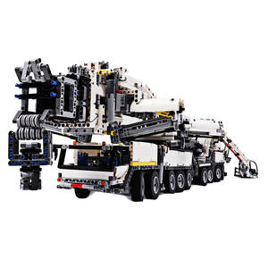 Model-Kit Stacking-Blocks Building Crane Construction-Toys Particles-Assembly MOC Small