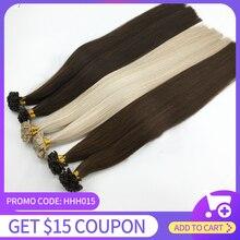 HiArt 1г Совет наращивание волос салон человеческих волос подсказки ногтя кератина капсулы pre скрепленное выдвижение волос прямая Fusion 16