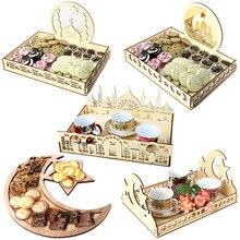 Ramadan Eid Mubarak Decorations For Home Moon Wooden Plaque