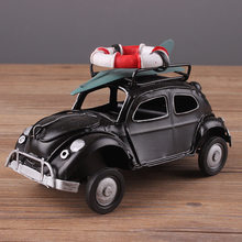 Retro Cassic Cars Figurine Metal Decoration Handmade Iron Classic Beetle Sailor Car Model Home Decoration Kid Toy Cars Crafts(China)