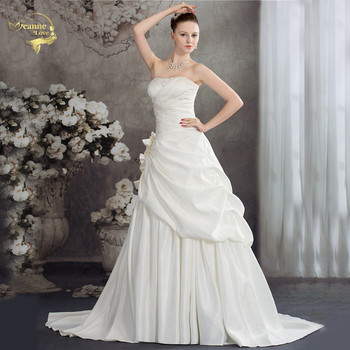 Jeanne Love Off The Shoulder Wedding Dresses 2019 Bridal Gowns Applique With Beading Ivory Robe De Mariage Plus Size JLOV75956