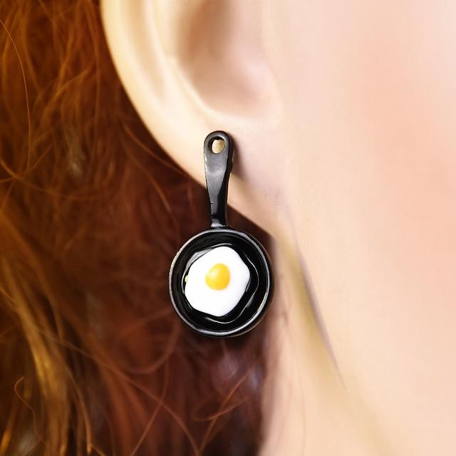 New Funny Asymmetric 2019 Earrings Enamel Fried Egg Earrings for Women Jewelry Oorbellen Drop Dangle Earrings.jpg 640x640 - New Funny Asymmetric 2019 Earrings Enamel Fried Egg Earrings for Women Jewelry Oorbellen Drop Dangle Earrings