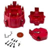 Red Male Hei Distributor Cap Coil And Rotor Replacement For Sbc Bbc 305 350 454 Coils  Modules & Pick-Ups     -