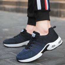 couple air-cushion running shoes lightweight breathable men