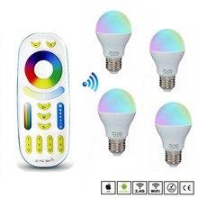 цена на AC86-250V Dimmable MiLight Led Bulb Lighting E27 6W Led Lamp RGBW RGBWW Smart Led Light Bulb for 2.4G Led Remote Controller