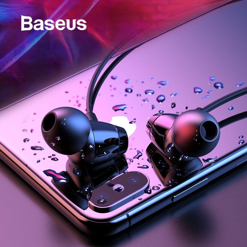 Baseus S09 auricular Bluetooth inalámbrico IPX5 auriculares impermeables banda para el cuello Fone de ouvido auriculares deportivos auriculares estéreo Auriculares auriculares