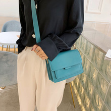 купить Retro Pu  Leather Crossbody Bag Casual Solid Color Small Flap Bags Women Shoulder Bags For Ladies Fashion Shoulder Messenger Bag дешево