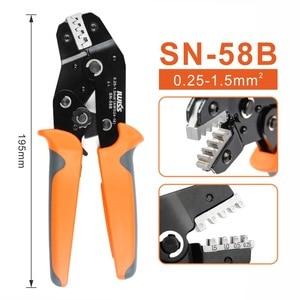 Image 3 - IWISS pinces à sertir SN 58B = SN 28B + SN 48B, pour DuPont 2.54, 2.8, 3.96, 4.8, terminaux de câbles électriques avec isolants