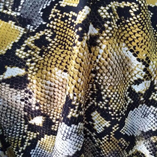 Luxury Snake Print Chiffon Snake Print Fabric Python Chiffon