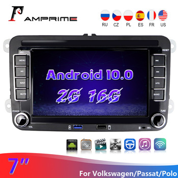 AMPrime Android 10.0 2Din Car Multimedia Video Player 7 Audio For Seat/Skoda/Passat/Golf/Polo GPS Car Radio Auto Radio Stereo image