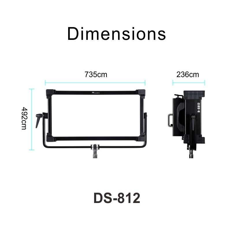 Falcon Eyes 400 Вт Светодиодная панель видео Fotografia свет Поддержка Bluetooth (приложение) Управление 8 режимами сцены непрерывное освещение лампа DS-812