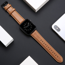 цена на Leather strap for Apple watch band 44mm 40mm 42mm 38mm correa iwatch band bracelet belt apple watch series 5 4 3 2 1 Accessories