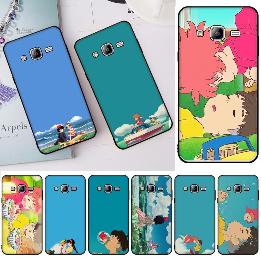 Ghibli Wallpaper Cover Black Soft Shell Phone Case For Samsung J2 Prime J2 Pro J4 J4plus J415 J6 J6 Prime J7 Plus J7 2018 Half Wrapped Cases Aliexpress