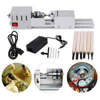 Mini CNC Lathe Beads Machine Woodwork DIY Lathe Standard Set Grinding Polishing Beads Drill Rotary For Table Woodworking Wood