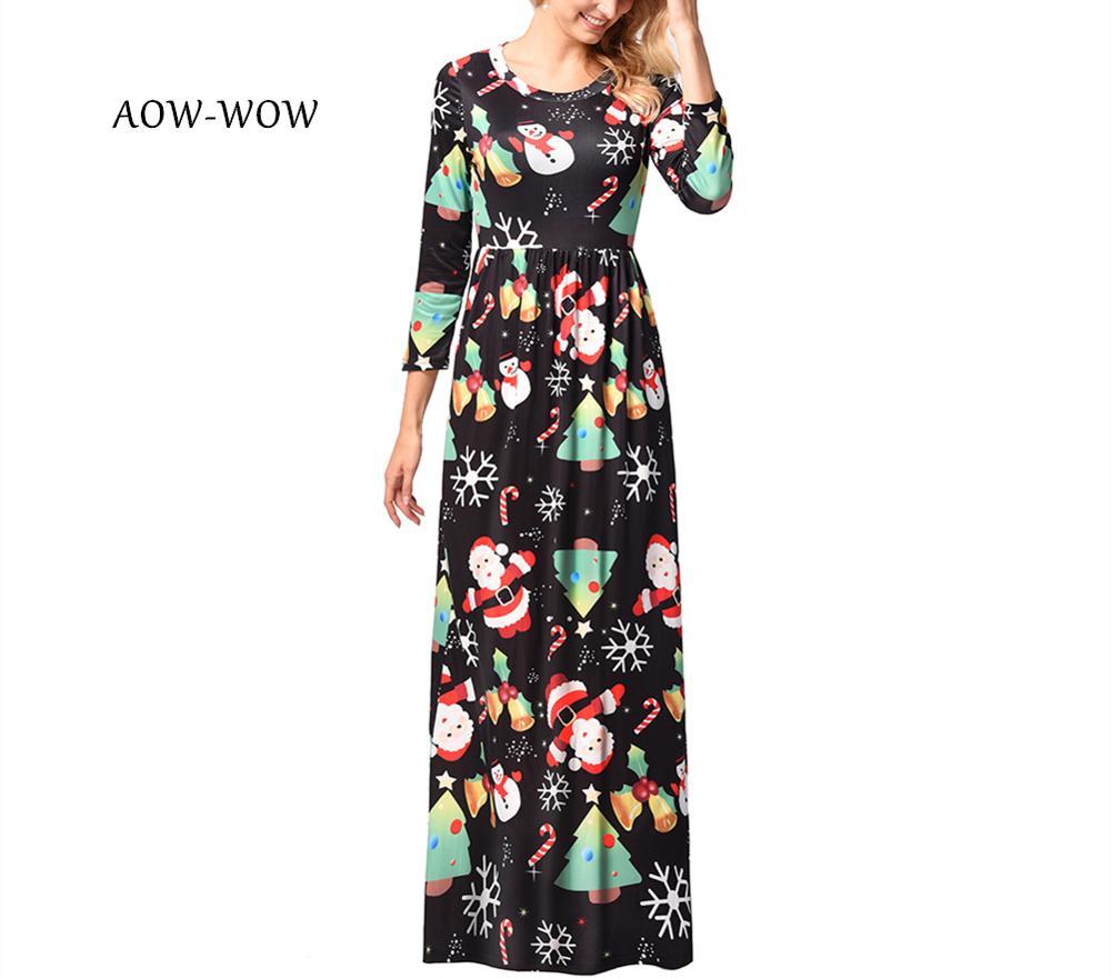 women winter club party 2019 christmas casual vestidos de festa long sleeve boho plus size dress vestido longo