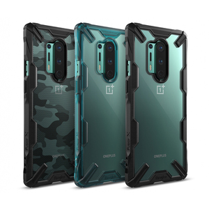Ringke Fusion X for Oneplus 8 Pro Case Dual Layer PC Clear Back and Soft TPU Frame Hybrid Heavy Duty Drop Protection Cover