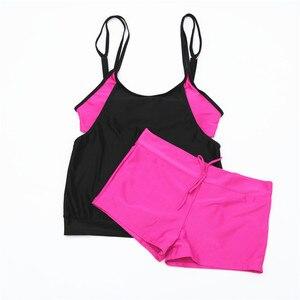 Image 5 - 2020 Plus Size Swimwear Women Tankini Set Two Piece Swimsuit High Waisted Bathing Suits Vintage Retro Bikini Set Swimming Suit