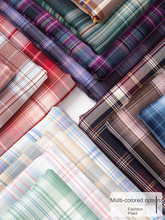 Plaid Fabric By The Half Meter for Jk Uniform Pleated Skirt Dress Clothes Sewing Diy Fabrics Grid Textile Polyester Cotton Blue