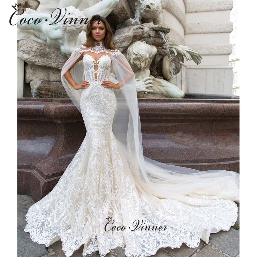 Sweetheart Neck Embroidery Hollow Mermaid Wedding Dresses Pure White Sexy Illusion Backless Button Court Train Vestidos W0589