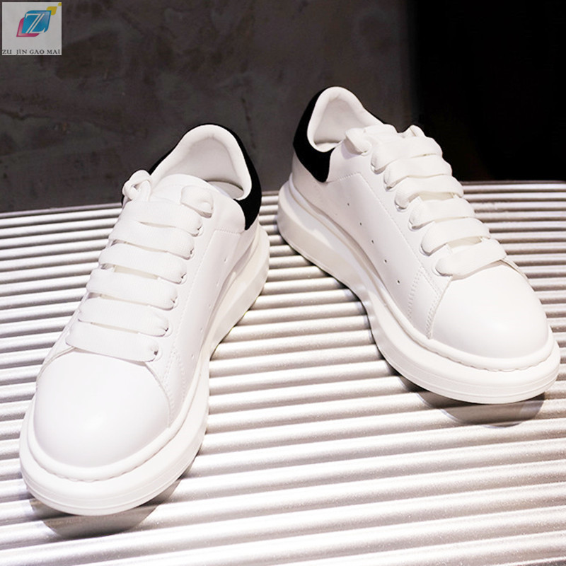 Sneakers Vulcanized Shoes Woman High Quality White Genuine Leather Round Tersoe Low Help Platform Shoes Fashion Women Sneakers