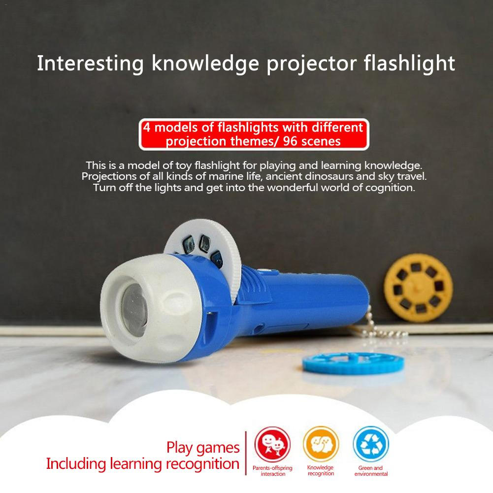 Mini Projection Night Light Novelty Flashlight For Children Kids Bedtime Animal Projection Night Illumination